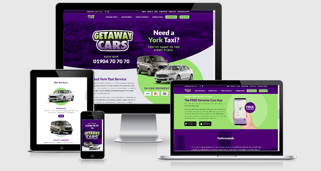 Getaway Cars New Look Website